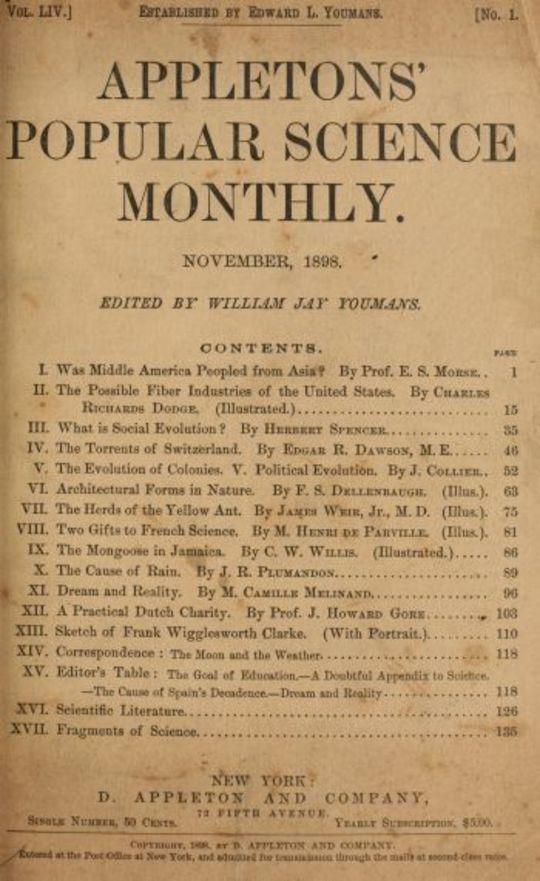 Appletons' Popular Science Monthly, Volume 54, November 1898