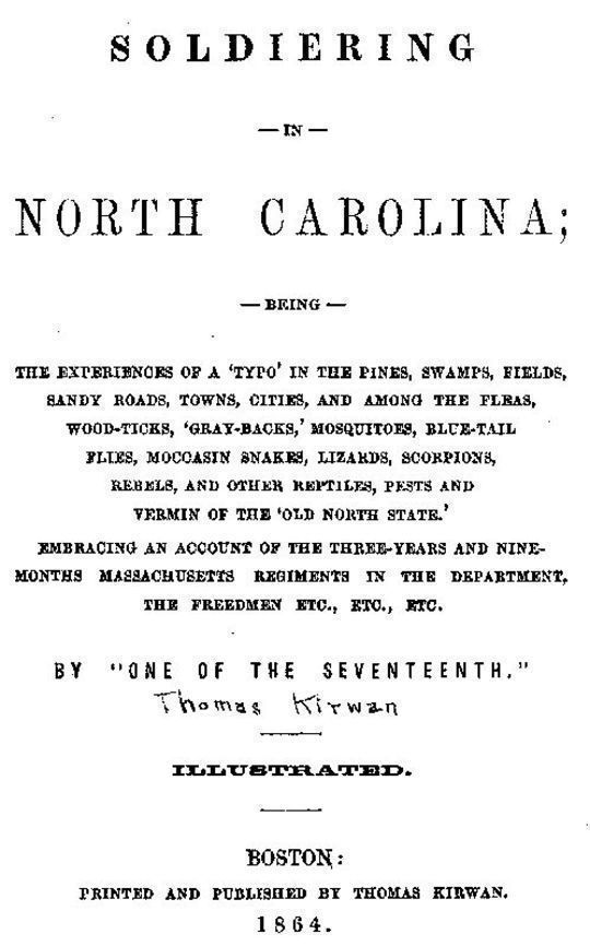 Soldiering in North Carolina