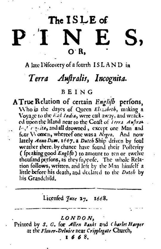 The Isle Of Pines (1668) and An Essay in Bibliography by Worthington Chauncey Ford