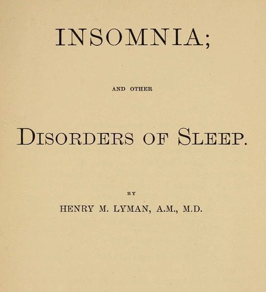 Insomnia; and Other Disorders of Sleep