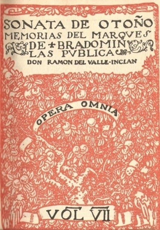 Sonata de otoño; Sonata de invierno memorias del Marqués de Bradomín