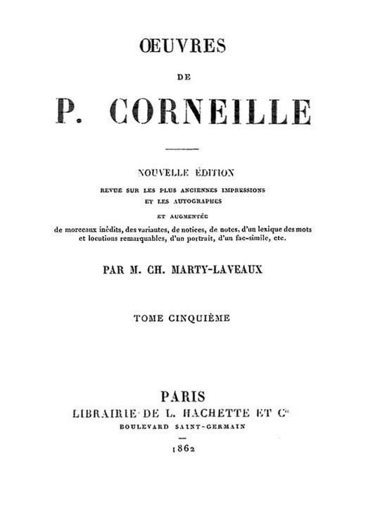 Œuvres de P. Corneille, Tome 05