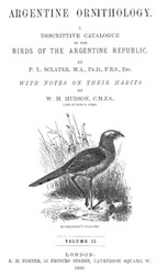 Argentine Ornithology, Volume II (of 2) A descriptive catalogue of the birds of the Argentine Republic.