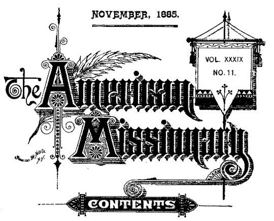 The American Missionary — Volume 39, No. 11, November, 1885
