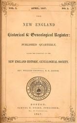 The New England Historical & Genealogical Register, Vol. I., No. 2, April 1847