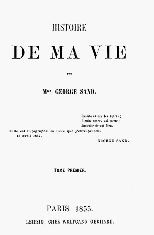 Histoire de ma Vie, Livre 1 (Vol.1 to 4)