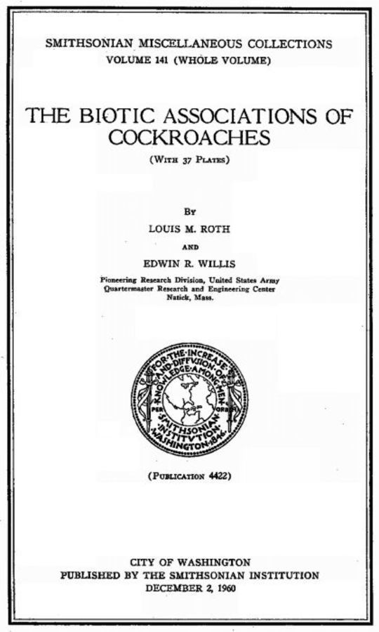 The Biotic Associations of Cockroaches