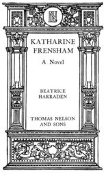 Katharine Frensham A Novel