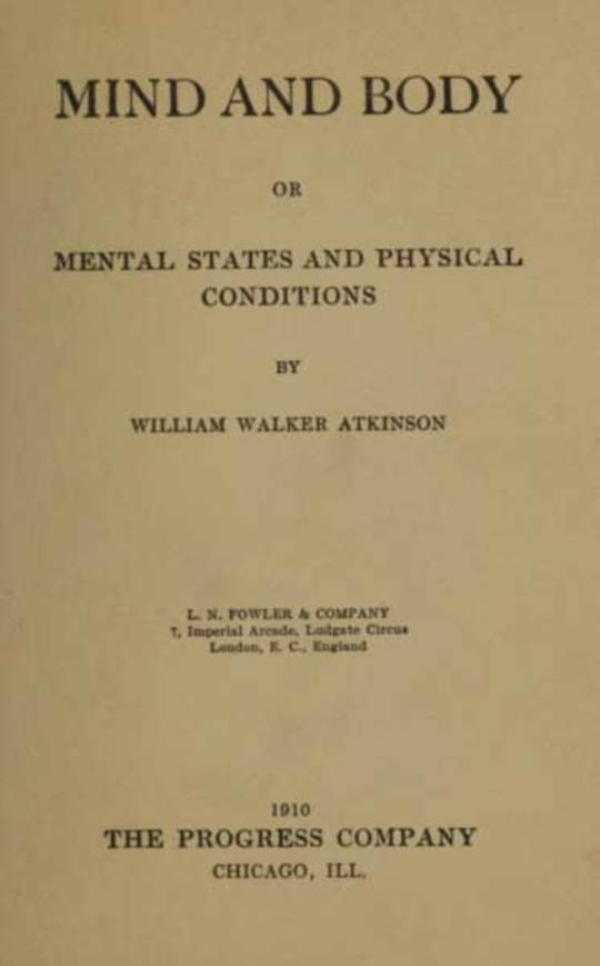 Mind and Body or, Mental States and Physical Conditions