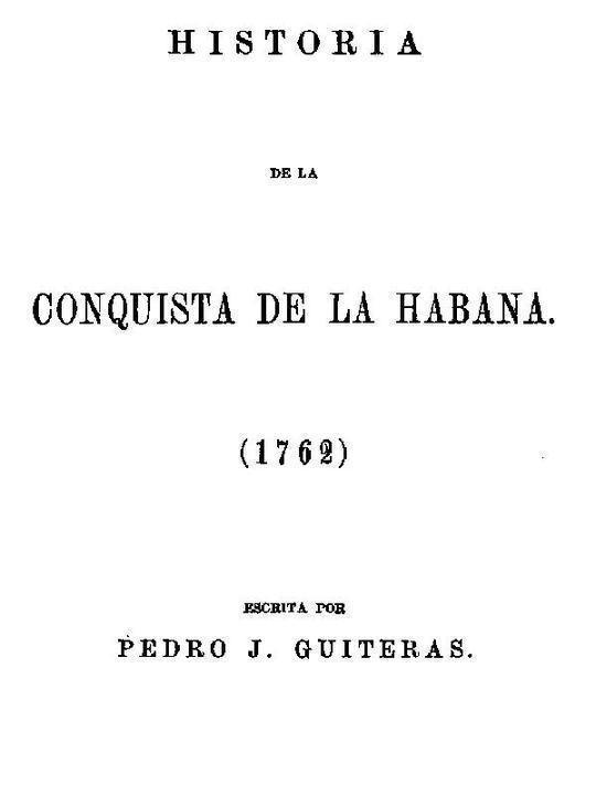 Historia de la Conquista de la Habana (1762)
