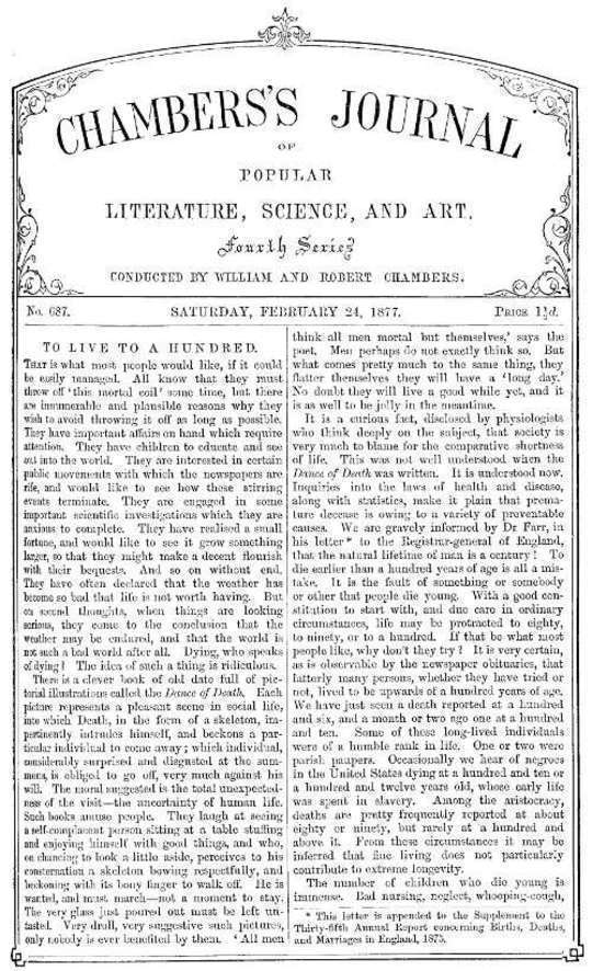 Chambers's Journal of Popular Literature, Science, and Art, No. 687 February 24, 1877