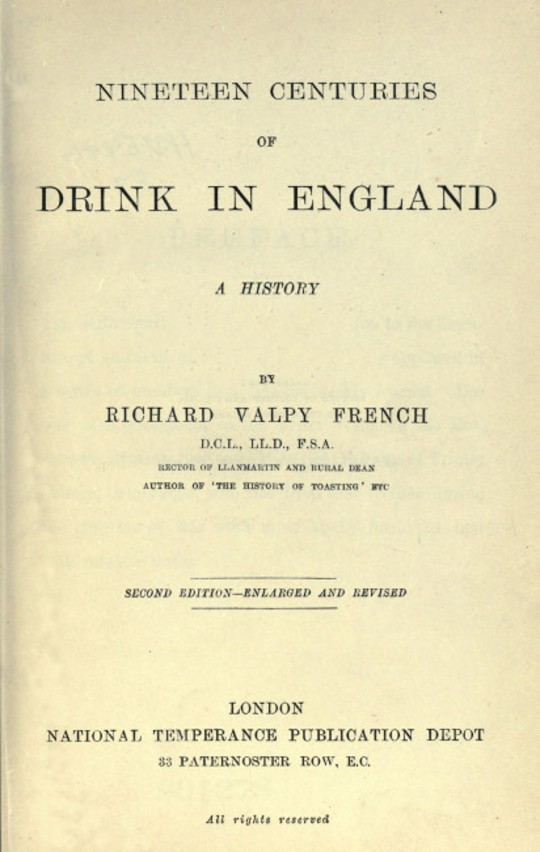 Nineteen Centuries of Drink in England A History