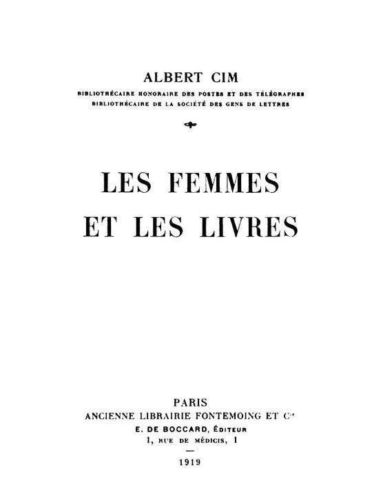 Les femmes et les livres
