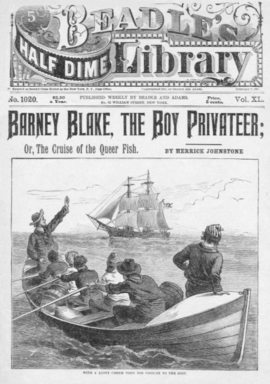 Barney Blake, The Boy Privateer or, The Cruise of the Queer Fish