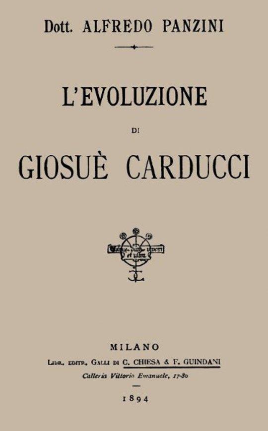 L'evoluzione di Giosuè Carducci