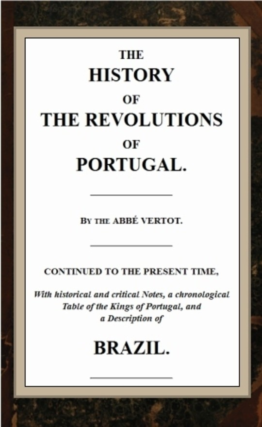 The History of the Revolutions of Portugal