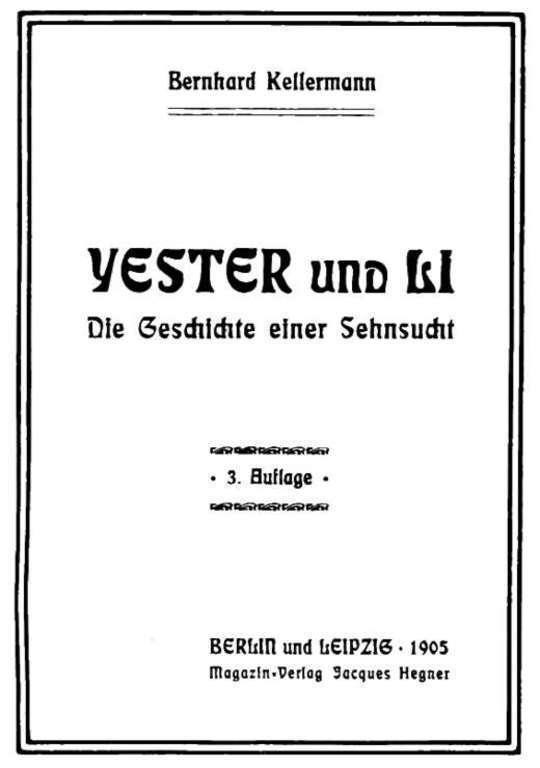 Yester und Li Die Geschichte einer Sehnsucht