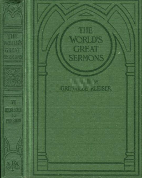 The World's Great Sermons, Volume 6: H. W. Beecher to Punshon