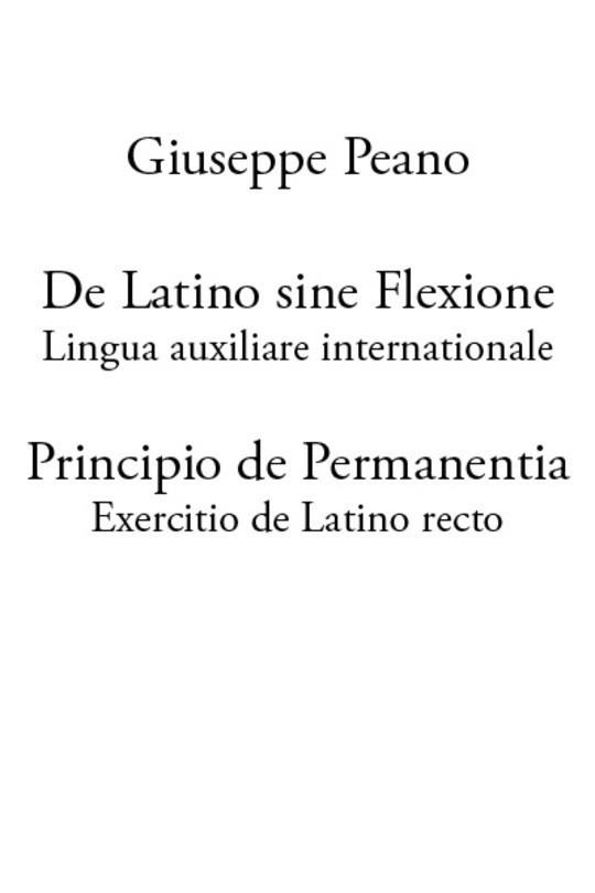 De Latino sine Flexione; Principio de Permanentia