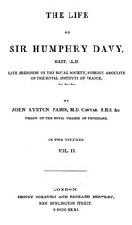 The Life of Sir Humphrey Davy, Bart. LL.D., Volume 2 (of 2)