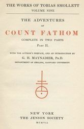 The Adventures of Ferdinand Count Fathom — Volume 02