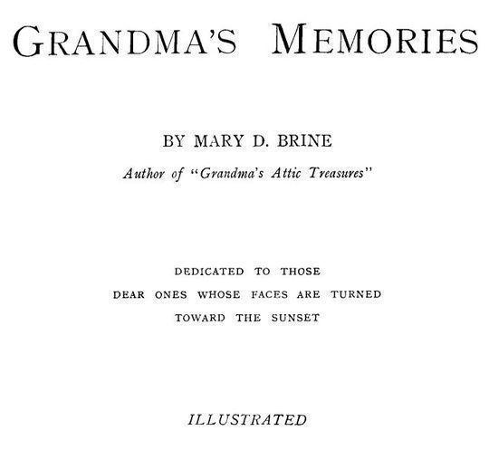 Grandma's Memories