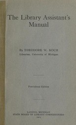 The Library Assistant's Manual