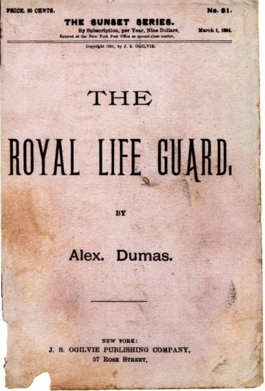 The Royal Life Guard or, the flight of the royal family. A historical romance of the suppression of the French monarchy