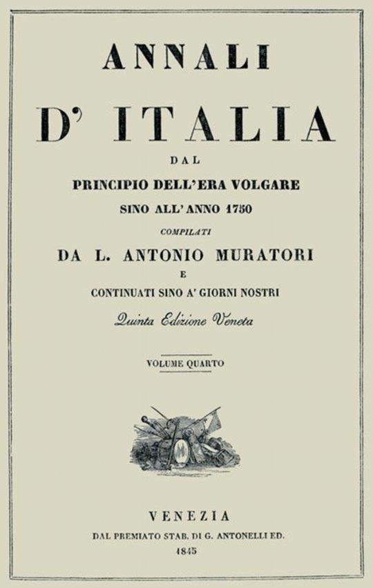 Annali d'Italia, vol. 4 dal principio dell'era volgare sino all'anno 1750