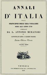 Annali d'Italia, vol. 1 dal principio dell'era volgare sino all'anno 1750
