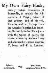 "Prince Prigio From ""His Own Fairy Book"""