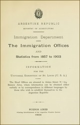 The immigration offices and statistics from 1857 to 1903