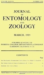 Journal of Entomology and Zoology, Vol. 11, No. 1, March 1919
