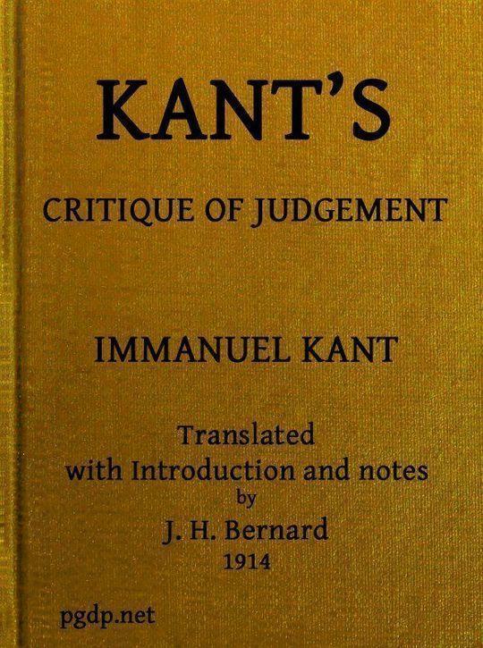 Kant's Critique of Judgement