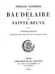 Baudelaire et Sainte-Beuve