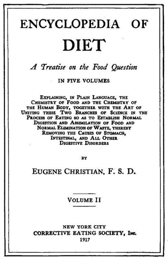 Encyclopedia of Diet Vol. 2 (of 5)