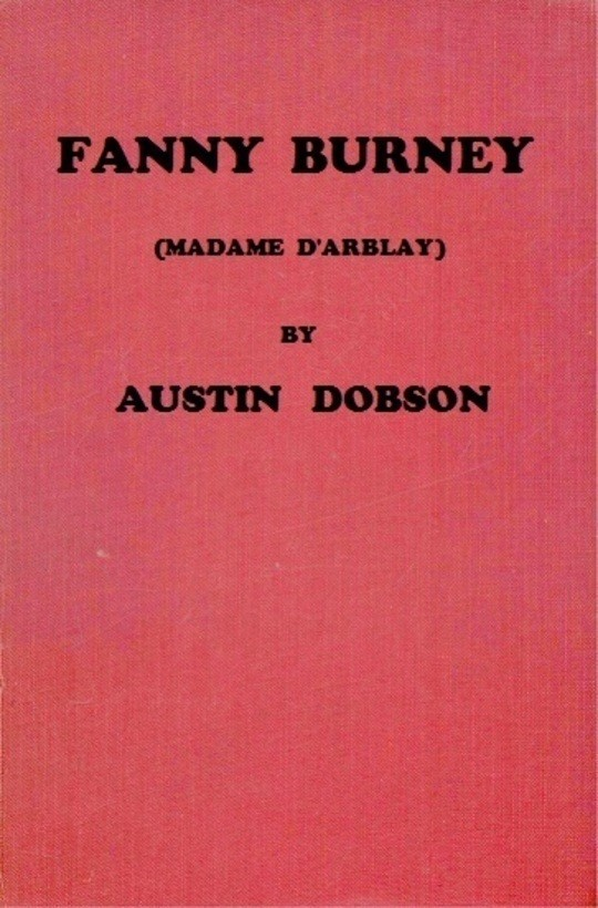 Fanny Burney (Madame D'Arblay)