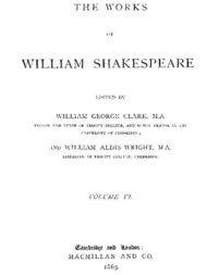 The Works of William Shakespeare [Cambridge Edition] [Vol. 6 of 9 vols.]