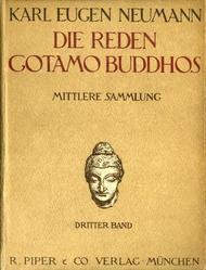 Die Reden Gotamo Buddhos Mittlere Sammlung, dritter Band
