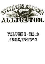 Stephen H. Branch's Alligator Vol. 8 no. 2, June 12, 1858