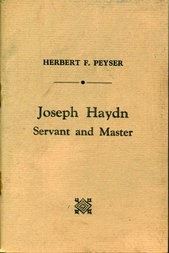 Joseph Haydn Servant and Master