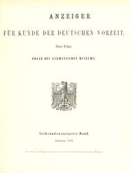Anzeiger für Kunde der deutschen Vorzeit (Jg. 26, 1879) Neue Folge