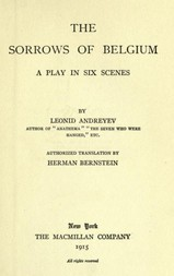 The Sorrows of Belgium A Play in Six Scenes