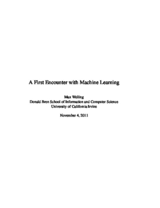 A First Encounter with Machine Learning