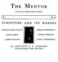 The Mentor: Furniture and its Makers, Vol. 1, Num. 30, Serial No. 30