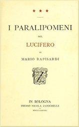 I Paralipomeni del Lucifero di Mario Rapisardi