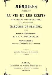 Mémoires touchant la vie et les écrits de Marie de Rabutin-Chantal