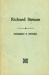 Richard Strauss Herbert F. Peyser