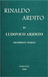Rinaldo ardito Frammenti inediti pubblicati sul manoscritto originale