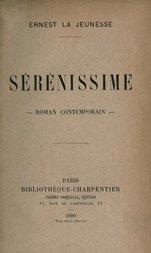 Sérénissime roman contemporain